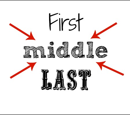 middle name - what does it mean